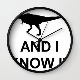 Extinct T-Rex Wall Clock