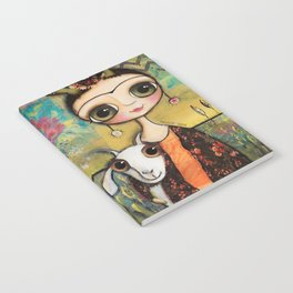 Frida Kahlo and the white coat Notebook
