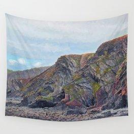 Hartland Quay Cliffs Wall Tapestry