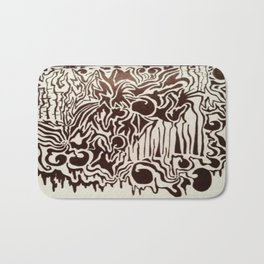 Fire in the City Ink Doodle Bath Mat