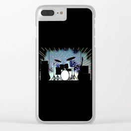 Bright Rock Band Stage Clear iPhone Case