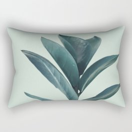Teal Mint Plant Rectangular Pillow