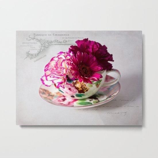 Shabby chic floral Metal Print