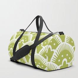 Fan Pattern Chartruese 201 Duffle Bag