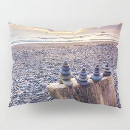 Stacked Rocks at Sunset Pillow Sham