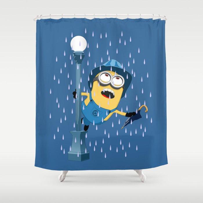 Minion In The Rain Shower Curtain