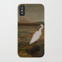 Marshland vs Man iPhone Case