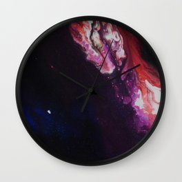 Cosmic Artwork Original Painting. Abstract Space by Jodi Tomer Wall Clock