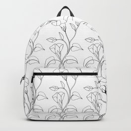 Floral Drawing in black and white Backpack