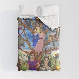 Frida Kahlo custom family tree painting Comforters