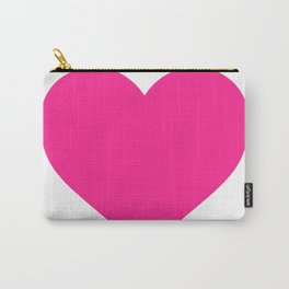 Heart (Dark Pink & White) Carry-All Pouch