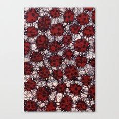 Ladybug Batik Canvas Print