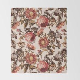 Vintage Garden VI Throw Blanket