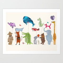 balloon parade Art Print