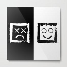 Happiness versus depression. #print Metal Print
