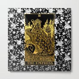 Floral Tarot Print - The Empress Metal Print