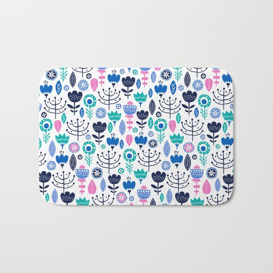 Flourish (Blues) Bath Mat