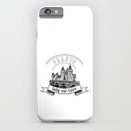 Castle Sully sur Loire, France. Emblem. iPhone Case