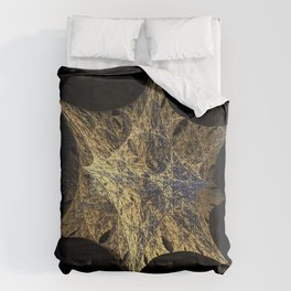 3D Fractal Star Comforters