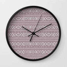 boho spirit: red Wall Clock