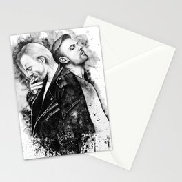 Guys in the black ART bt Vittoria Monsta Stationery Cards