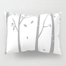White Birch Contemporary Pillow Sham