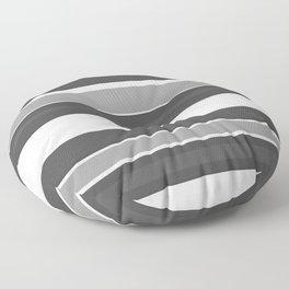 Simple Modern Stripes - Monochrome Black White Floor Pillow