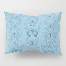 Butterfly Blues Pillow Sham