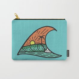 Wave in a Wave - Teal Carry-All Pouch