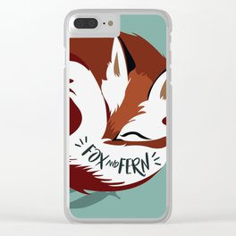 Fickle the Fox Clear iPhone Case