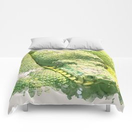 Green snake Comforters