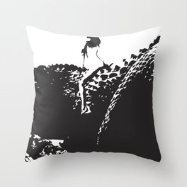 LET ME RIDE YOUR DINOSAUR  Throw Pillow