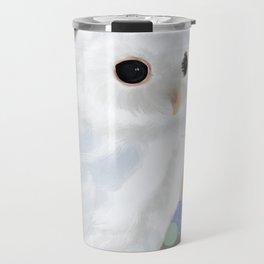 White Owl and Geometry Travel Mug