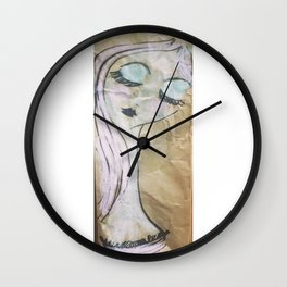 Pink Ladies: Modigliani Girl 1 Wall Clock