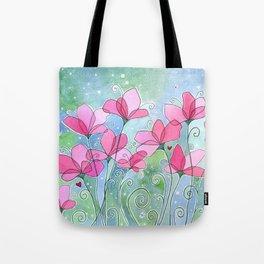 Celestial Strawberry Fluff Tote Bag