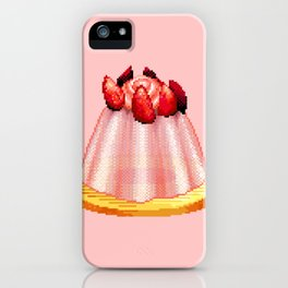 Jelly Cake Pixel Art iPhone Case
