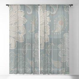 Cocoa Paisley VI Sheer Curtain