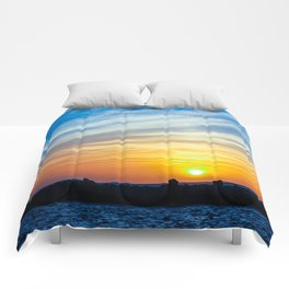 Sunset quote Comforters