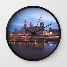 Daybreak in Cleveland Wall Clock