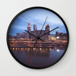 Daybreak in Cleveland Wall Clock