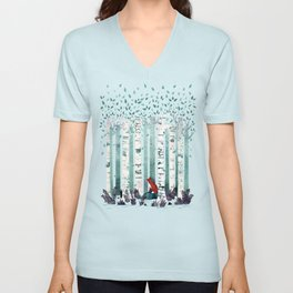 The Birches Unisex V-Neck