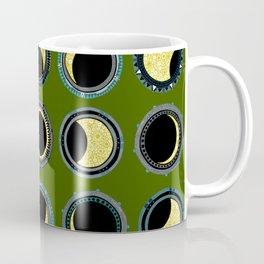 solar eclipse mandala green Coffee Mug