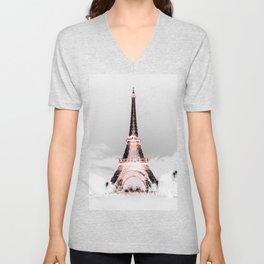pariS Black & White + Pink copyright 2sweet4wordsDesigns Unisex V-Neck
