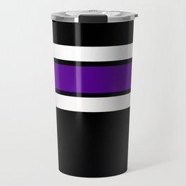Team Colors...purple and white on black Travel Mug