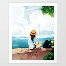 Trip to the sea Art Print