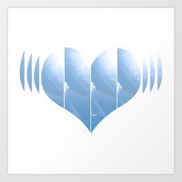 Heartbeat in Carolina Blue Art Print