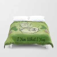 popeye Duvet Covers featuring Popeye  by ItalianRicanArt