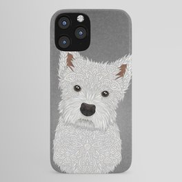 Cute West Highland Terrier Portrait iPhone Case