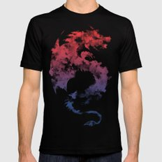 Dragon's Myth LARGE Black Mens Fitted Tee