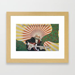 Wildflowers (Tom Petty Tribute Mural, Gainesville) // Music Rock and Roll Guitar Legendary Hall Fame Framed Art Print